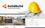 """SolidBuild - Construction Company"" - WordPress шаблон"