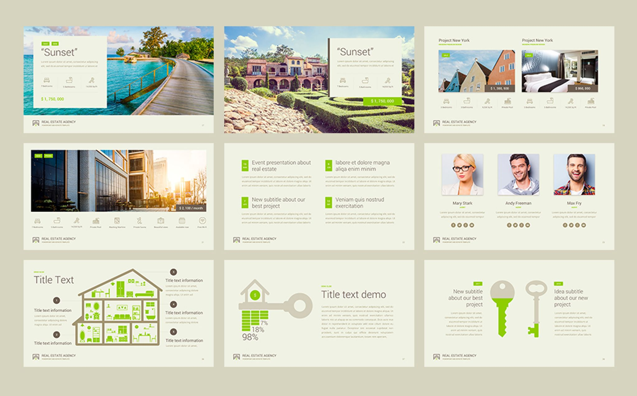 real estate presentation powerpoint template 65966