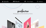 """Projector - Photographer Portfolio Multihome"" WordPress thema"
