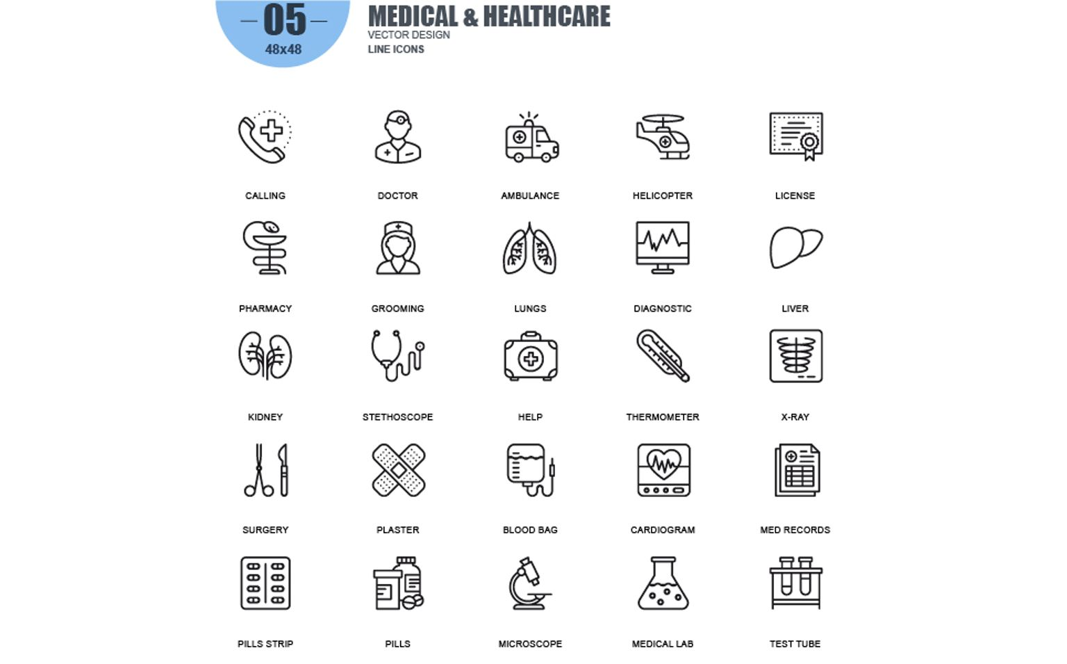 Simple Line Icons Iconset Template #65921