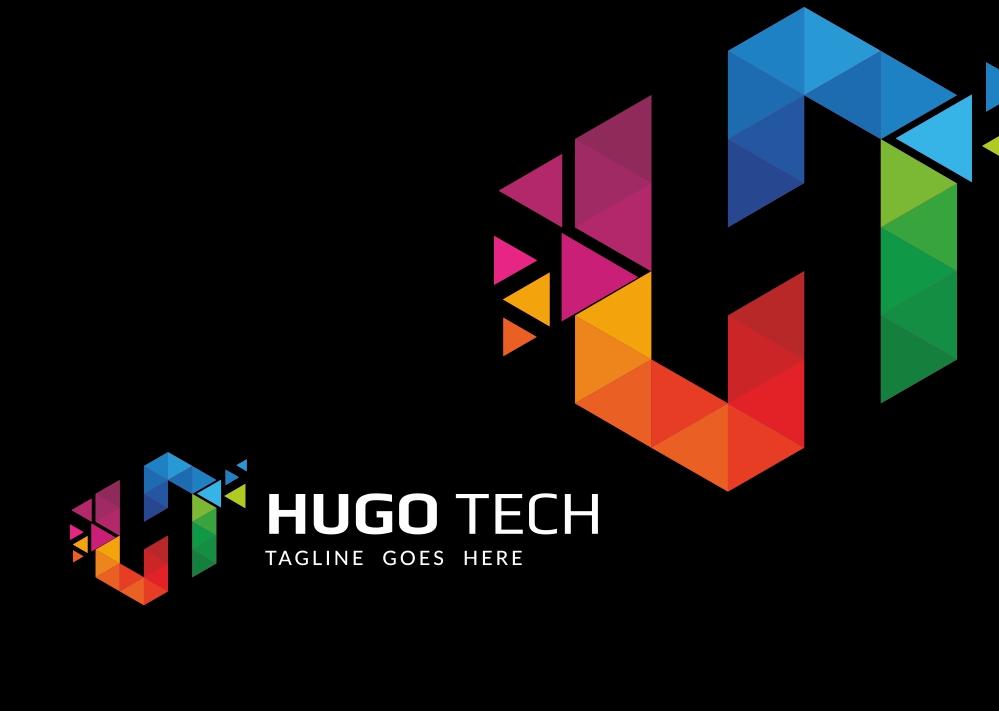 hugo tech logo template  65963