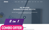 """Kinger - Personal Business Portfolio Landing"" thème WordPress adaptatif"