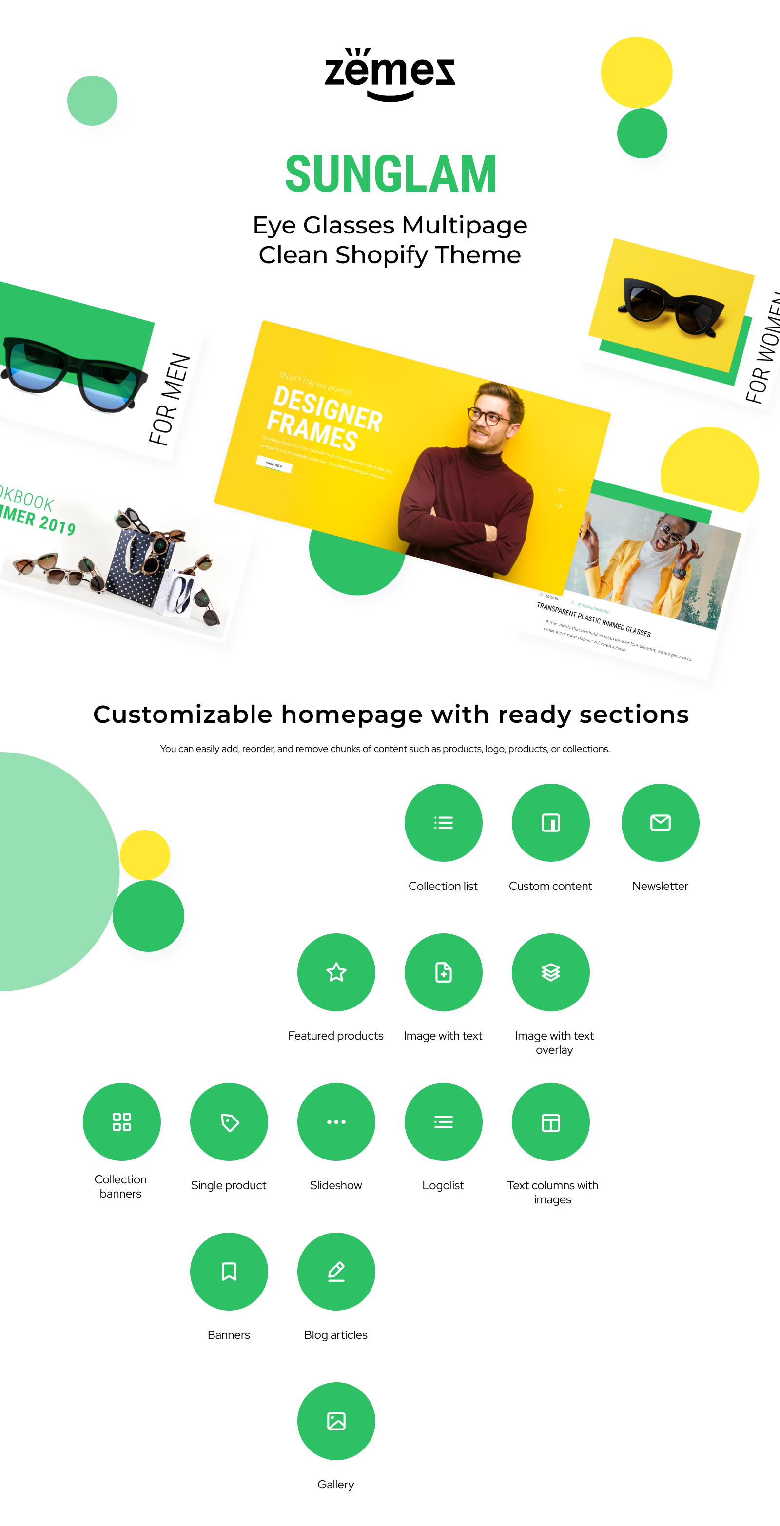 Sunglam - Eye Glasses Multipage Clean Shopify Theme