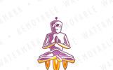 Robot Meditation Logo Template