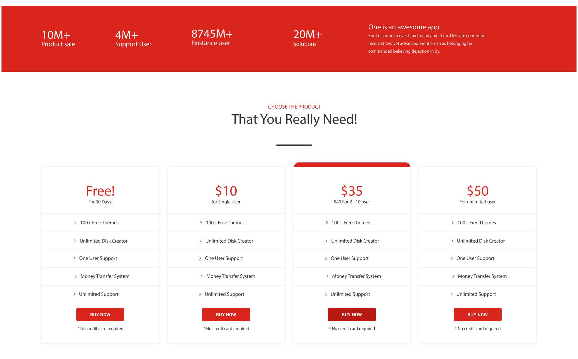PSD Vorlage #65958 für Web Design