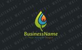 Renewable Energy Leaf Logo Template