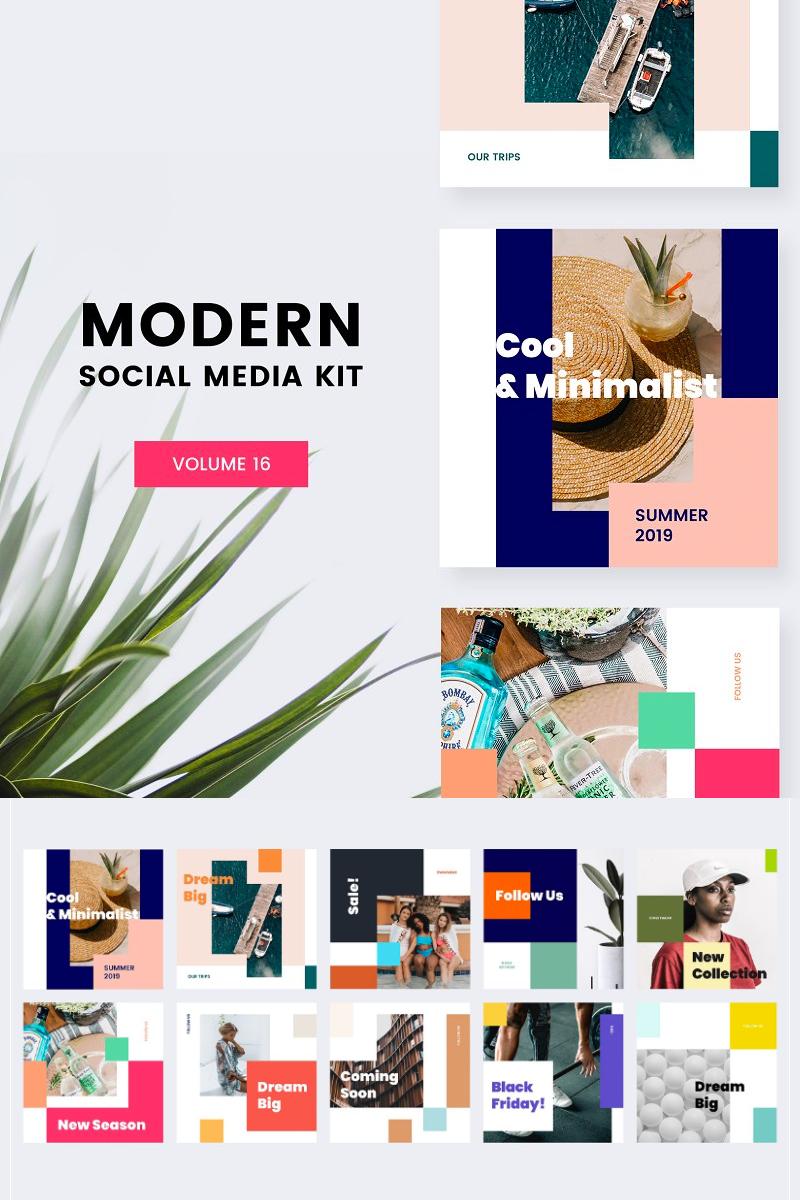 . Modern Social Media Kit  Vol  16  Social Media  81423