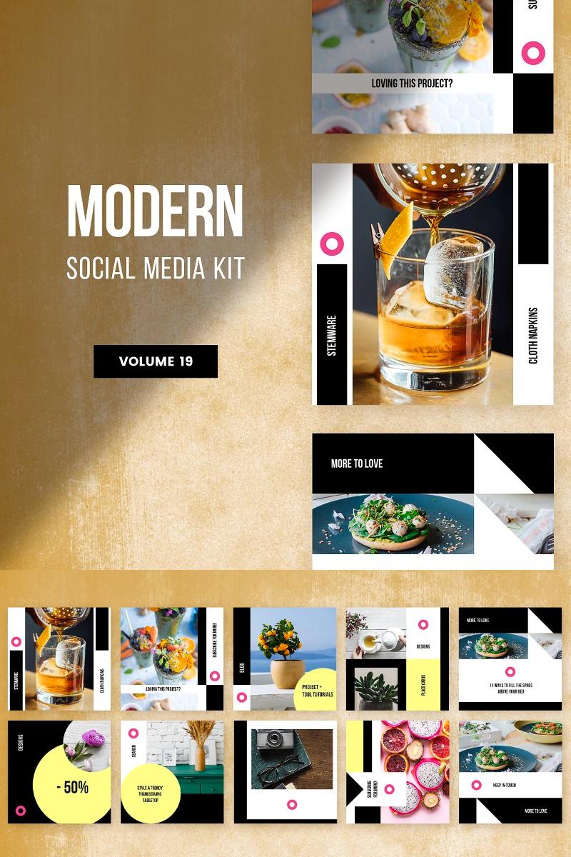 . Modern Social Media Kit  Vol  19  Social Media  81448
