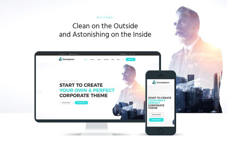 Conceptum - Corporate Responsive WordPress Theme #65934