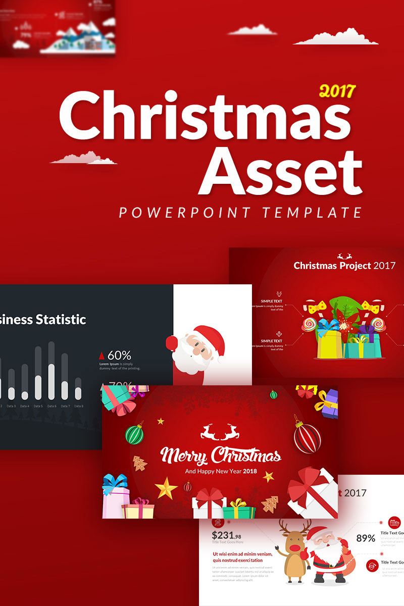 Christmas asset powerpoint template 65976 toneelgroepblik Image collections
