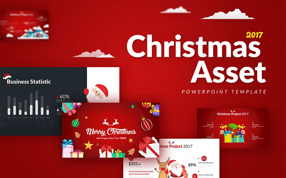 Christmas asset powerpoint template 65976 christmas asset powerpoint template big screenshot toneelgroepblik Gallery