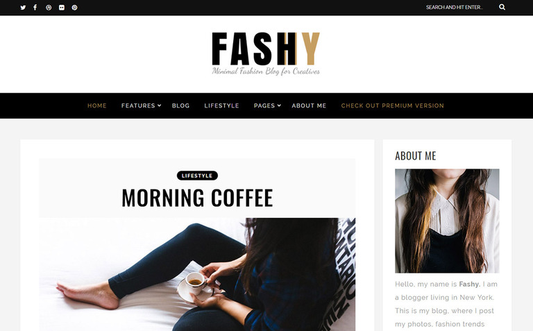 Fashy - Fashion Blog WordPress Theme #64917