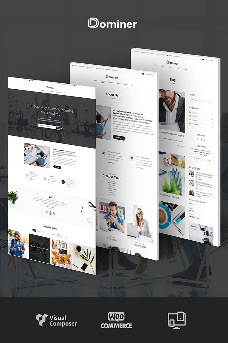 Dominer Business & Services WordPress Theme Big Screenshot