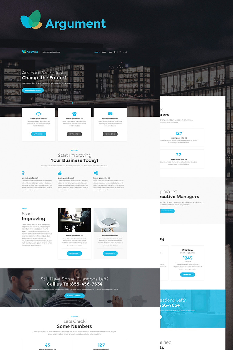 Argument Business Consulting WordPress Theme Big Screenshot