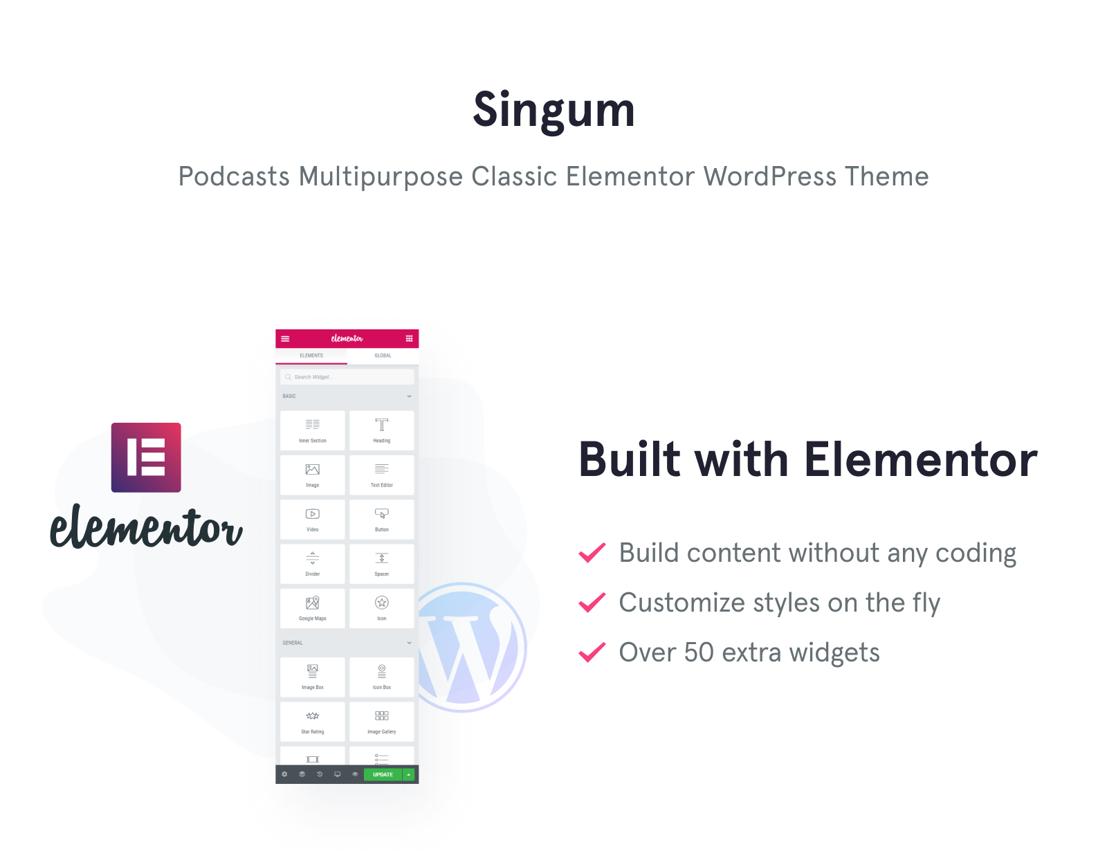 Singum - Podcaster Multipurpose Classic Elementor WordPress Theme