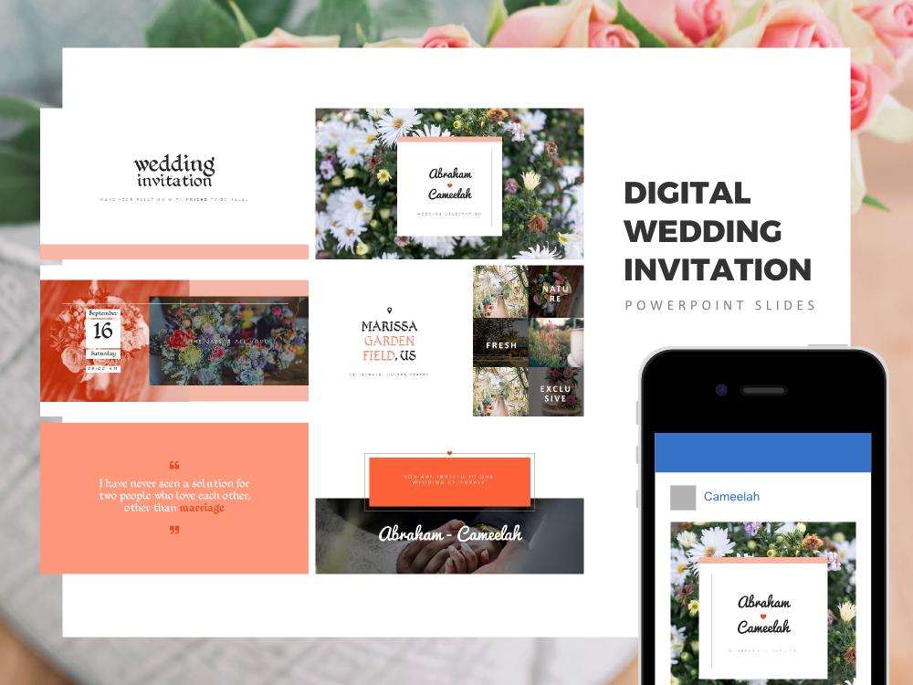 Digital wedding invitation wedding invitation wedding gift zoom in toneelgroepblik Gallery