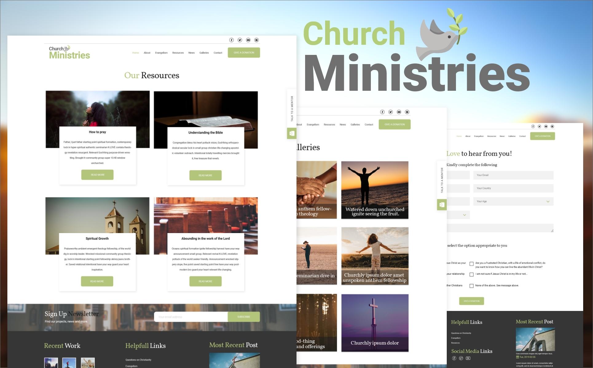 Church Ministries Psd Template  82204