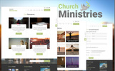 Church Ministries Template Photoshop  №82204