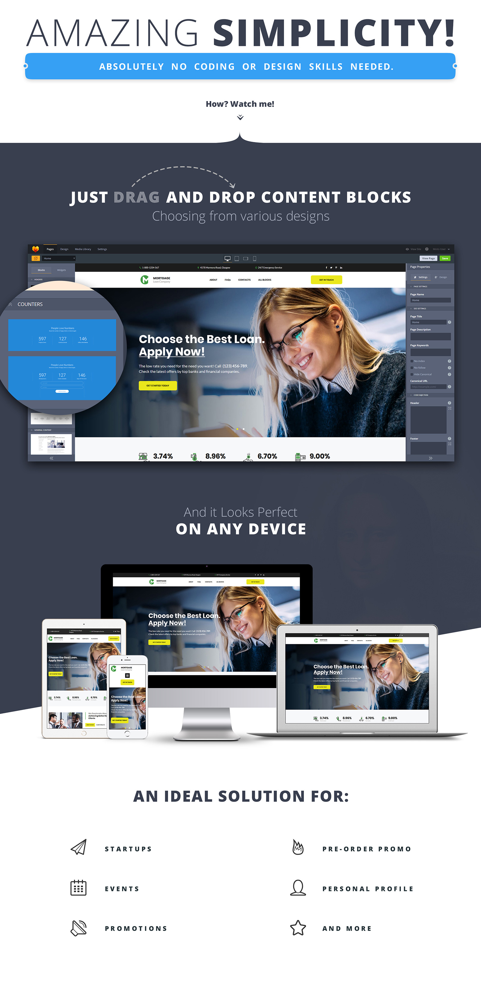 Mortgage - Loan Company Landing Page Template