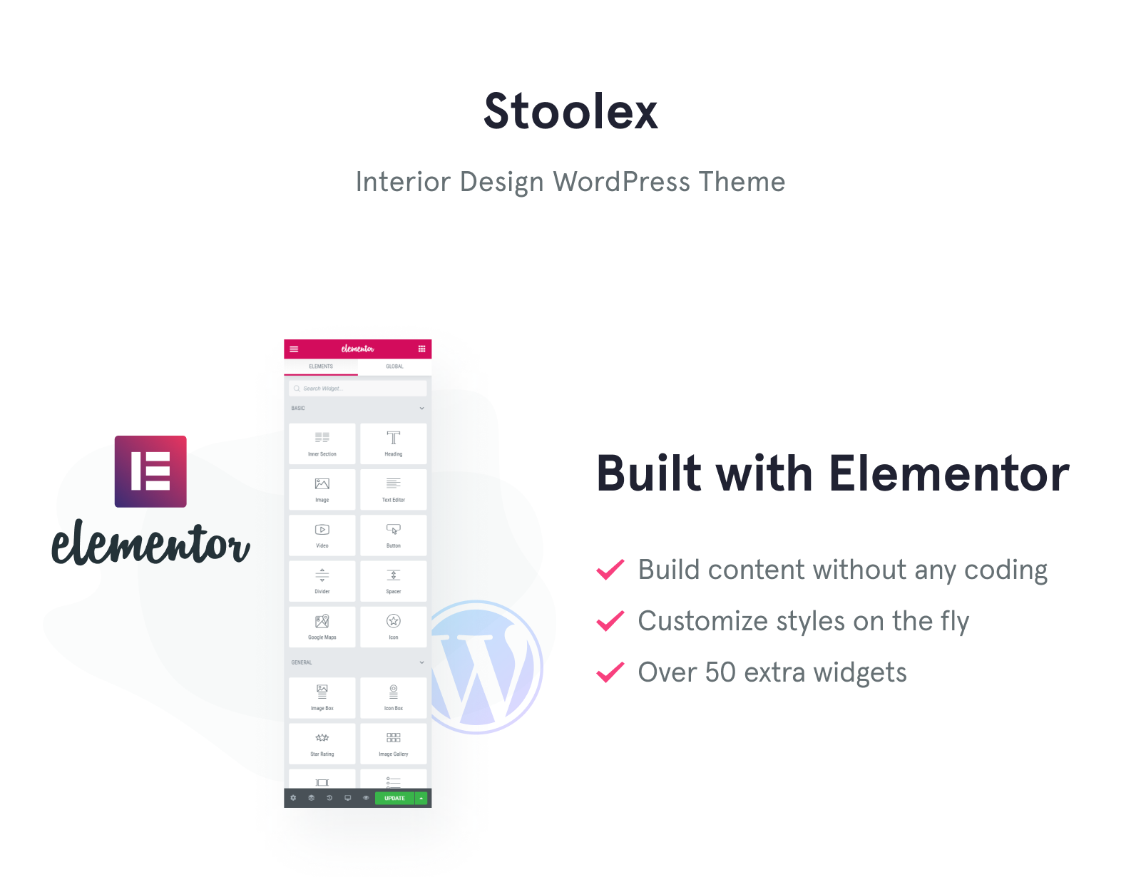 Stoolex - Interior Design Multipurpose Minimal Elementor WordPress Theme