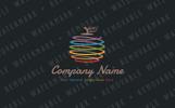 Spiral Apple Logo Template