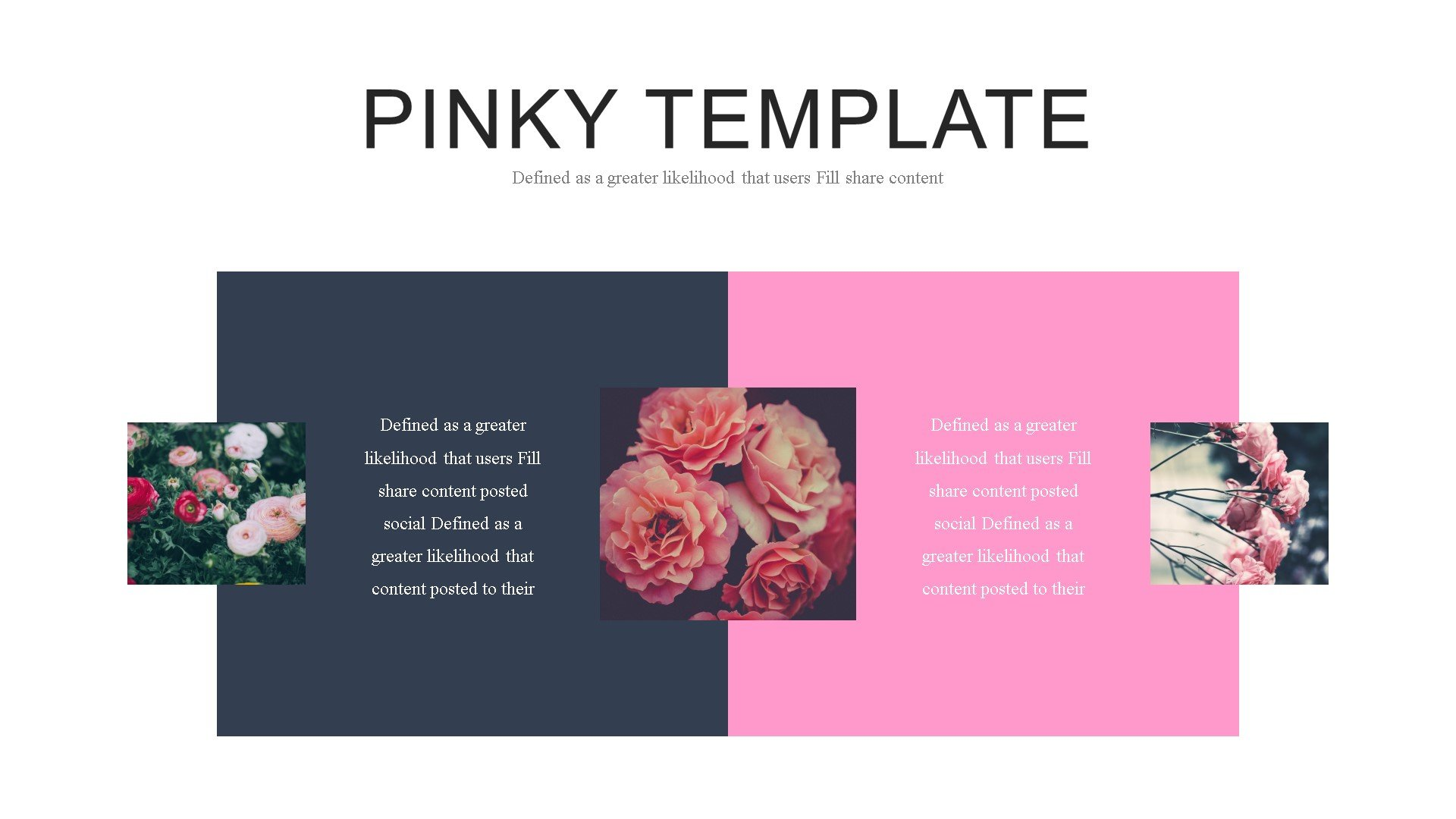 Pinky PowerPoint Template #82902