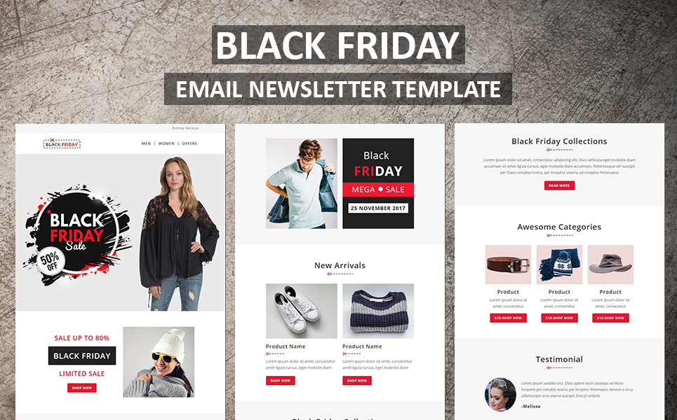Black Friday Email Newsletter Template 65984