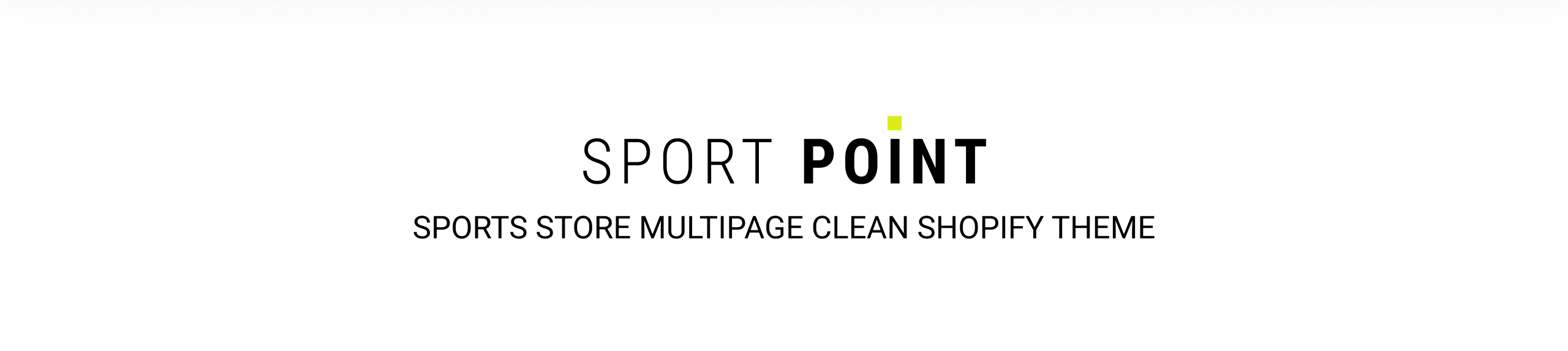 Sport Point - Sports Store Multipage Clean Shopify Theme