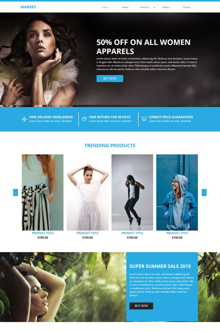 Market E-commerce Muse Template #82746