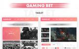 """""""Gaming Bet"""" - PSD шаблон"""