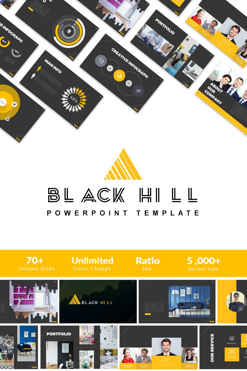 Black Hill Presentation Powerpoint Template 66030