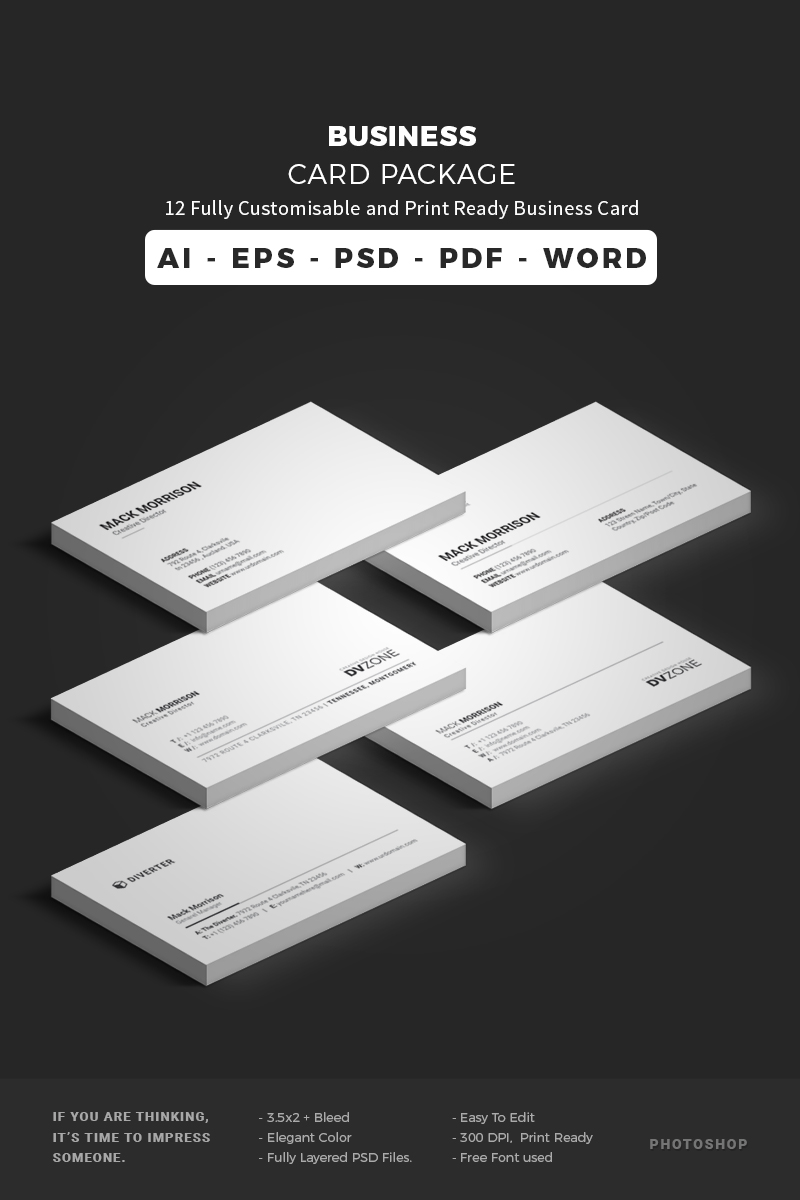Business card bundle corporate identity template 65651 colourmoves