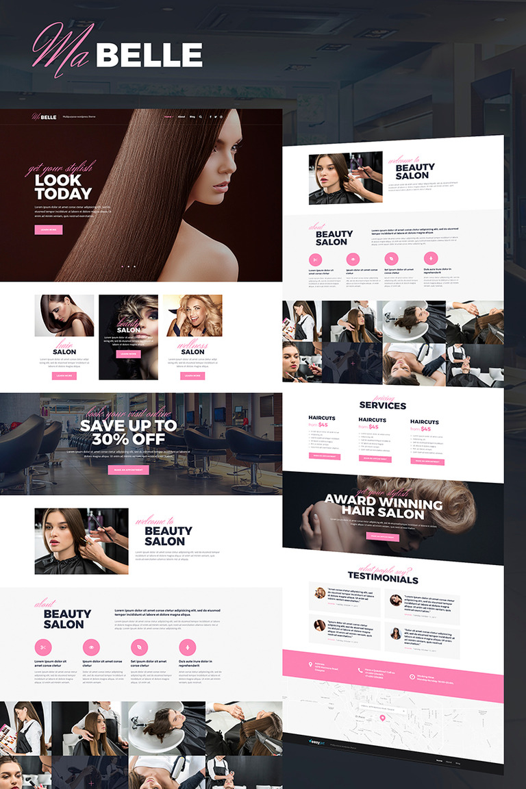MaBelle - Beauty Salon WordPress Theme