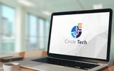 Colorful Circle Technology Logo Şablon
