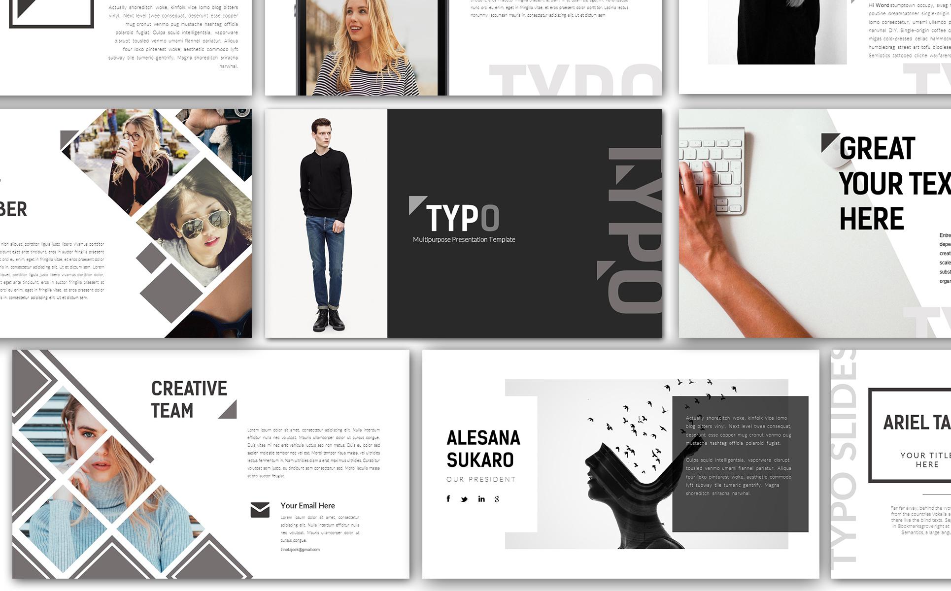 Keynote Vorlage #66003 für Design und Fotografie