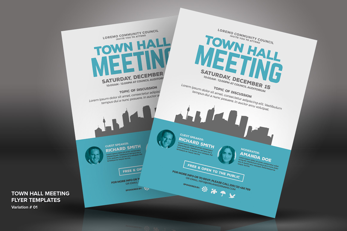 Town Hall Meeting Flyer Psd Template 66046