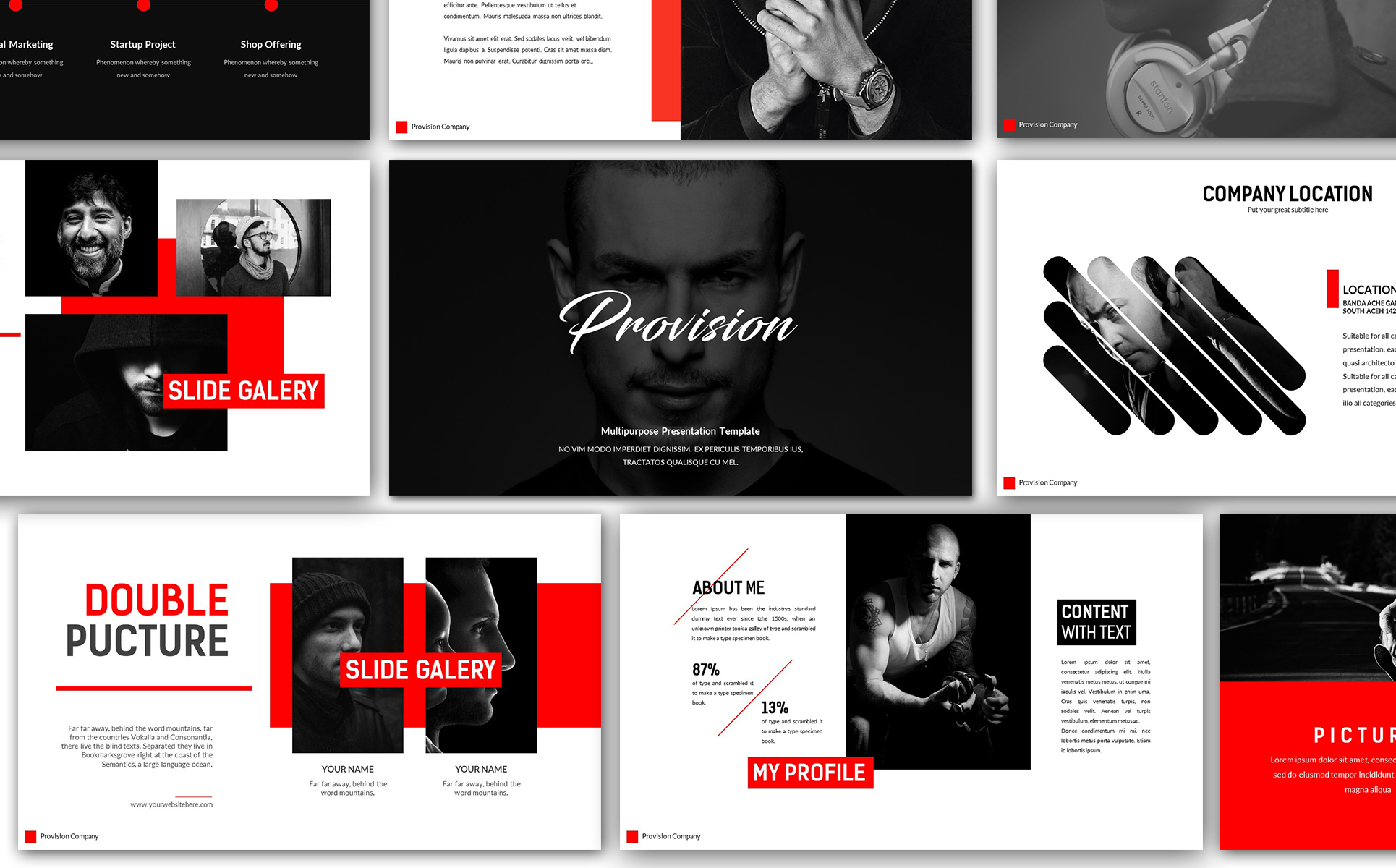 Provision Creative Presentation Powerpoint Template 66047