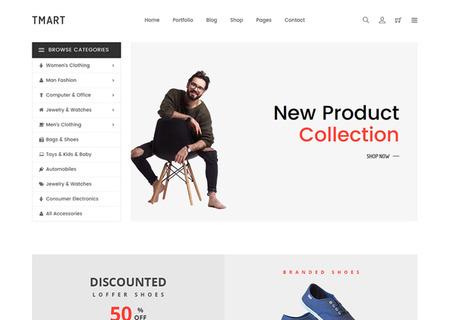 Tmart - Minimal eCommerce