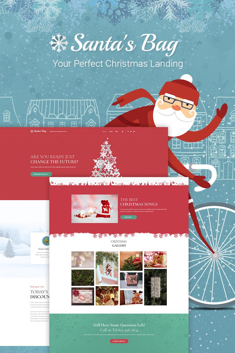 Адаптивный шаблон №66026 на тему праздники, подарки и цветы, отдых, рождество