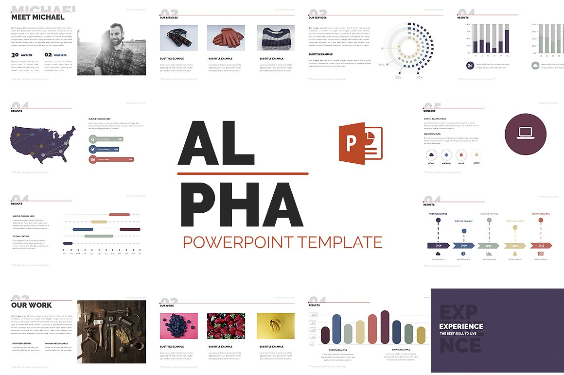 alpha presentation powerpoint template #66755, Presentation templates