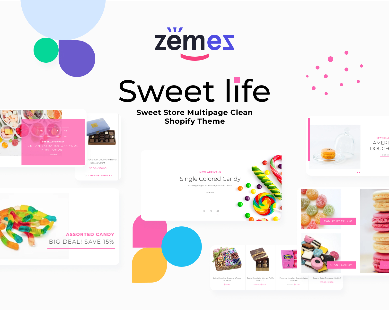 Sweet Life - Sweet Store Multipage Clean Shopify Theme