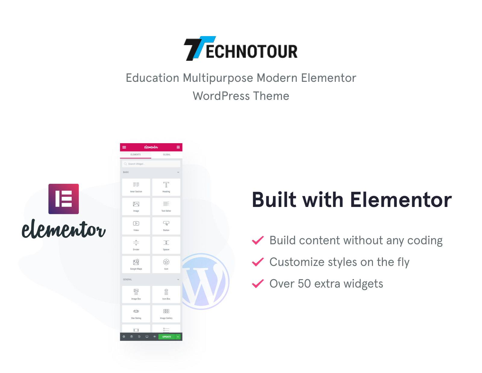 Technotour - Education Courses Minimal Elementor WordPress Theme