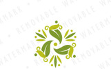 Abstract Leaf Transformation Logo Template
