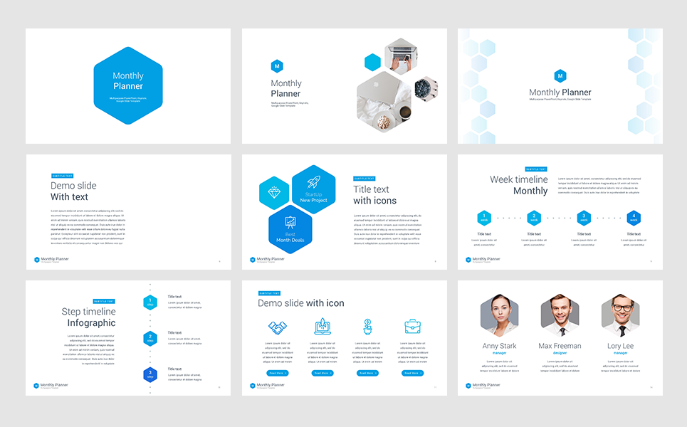 Monthly planner powerpoint template 66054 monthly planner powerpoint template toneelgroepblik Gallery