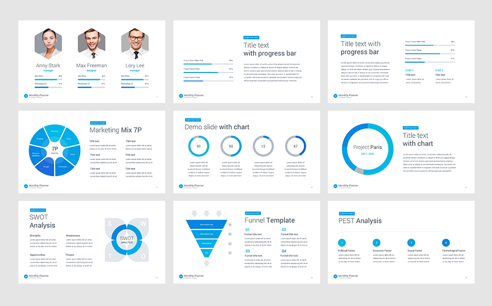 monthly planner keynote template  66055