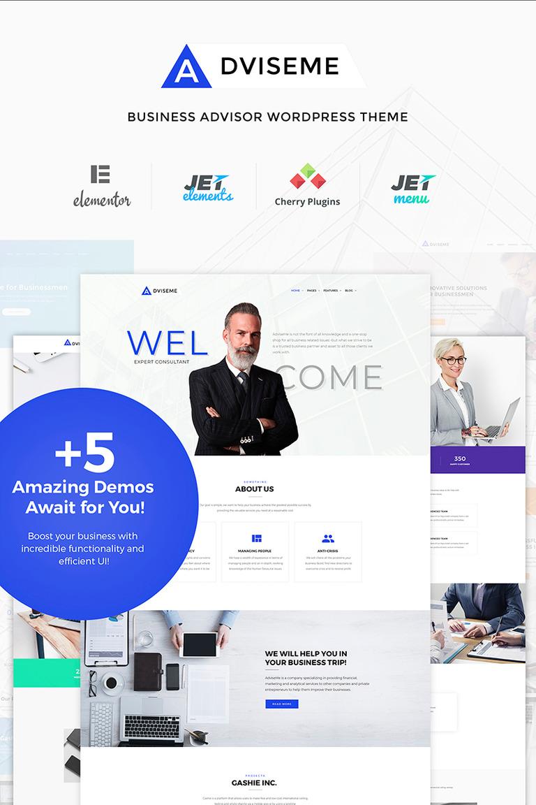 Adviseme - Business Advisor WordPress Theme Big Screenshot