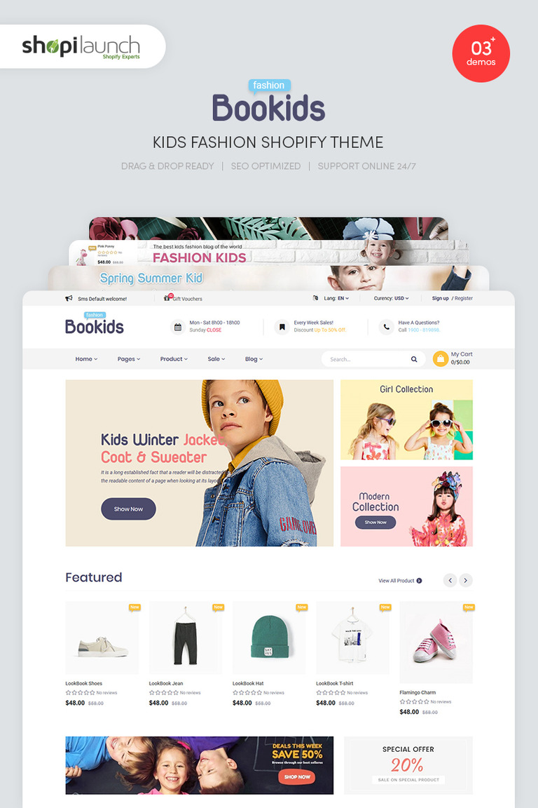 BooKids - Kids Fashion Shopify Theme #84044
