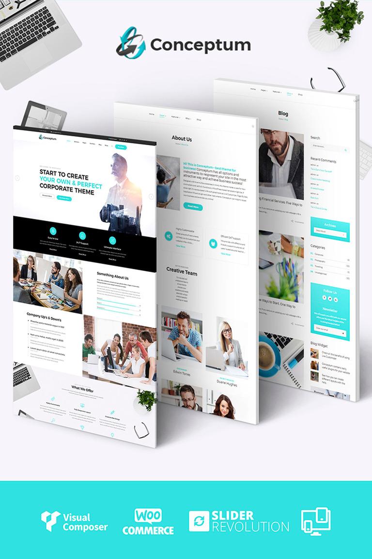 Conceptum - Corporate Responsive WordPress Theme Big Screenshot
