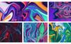 Abstract Vibrant Liquid Backgrounds Vol.1 Illustration Big Screenshot