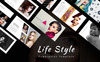 Life Style Presentation PowerPoint Template Big Screenshot